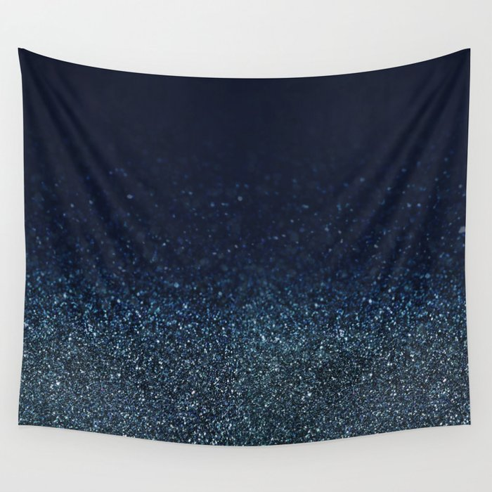 Shiny Glittered Rain Wall Tapestry