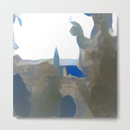 Blue Mainz Cathedral Metal Print