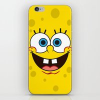 spongebob iPhone & iPod Skins featuring SpongeBob Face by julien tremeau