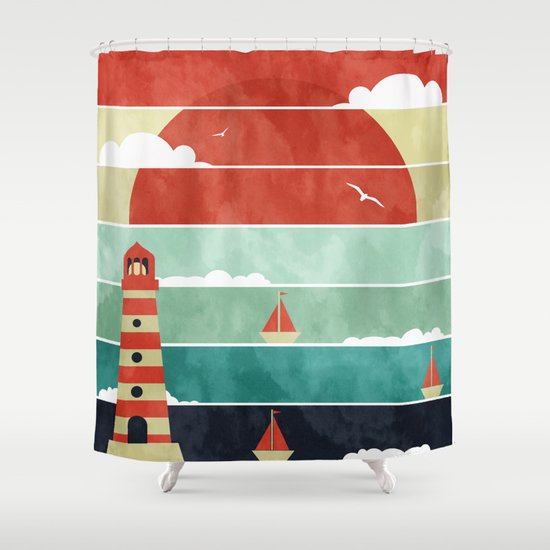 Coming Home. Shower Curtain