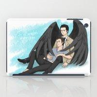 destiel iPad Cases featuring Fluffy Muffly Destiel by bayobayo