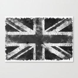 Black and white England Grunge flag Canvas Print