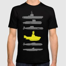 Know Your Submarines V2 LARGE Black Mens Fitted Tee
