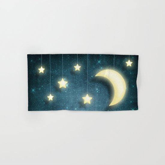 Moon & Stars 01 Hand & Bath Towel