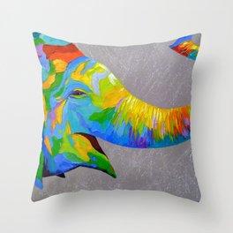 Smiling elephant Throw Pillow