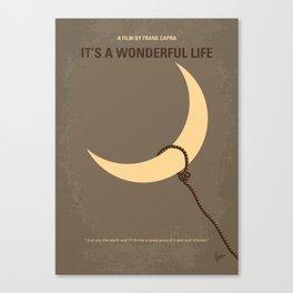 No700 My Its a Wonderful Life minimal movie poster Canvas Print