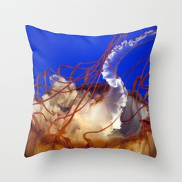 Jelly Fish Love Throw Pillow