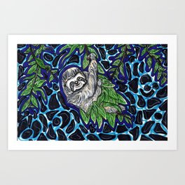 Sloth Climb Art Print