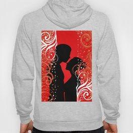 Boy and girl with ornamental background Hoody