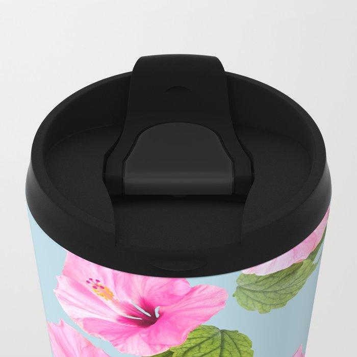 Ibiscus Dance Metal Travel Mug