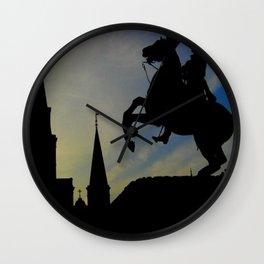Landmark Silhouettes in Casa de Armas Wall Clock