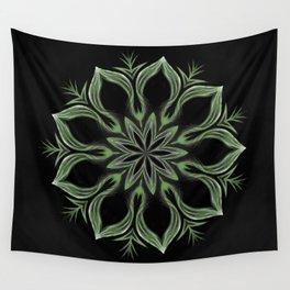 Alien Mandala Swirl Wall Tapestry