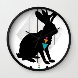Aztec King of the Jackalope Wall Clock