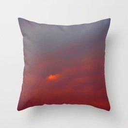 Red cloud shining at sunset Throw Pillow