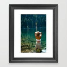 Le Lady Lake Framed Art Print