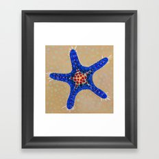 Sea Star Blue Framed Art Print