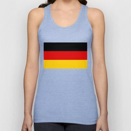 German flag - High Quality version both in scale and color Unisex Tank Top