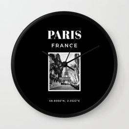 Paris Print Paris Photography Poster Fashion Poster Wanderlust Print Black And White Home Wall Decor Wall Clock