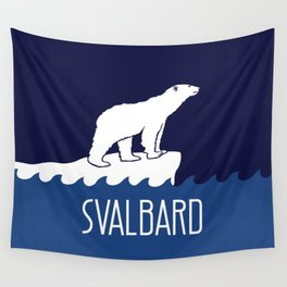 Svalbard Dark Season Travel Poster - Norway Wall Tapestry