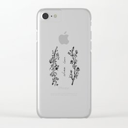 Choose Love (and Flowers) Clear iPhone Case