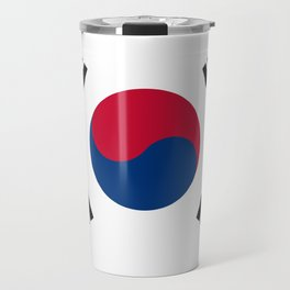 National flag of South Korea, officially the Republic of Korea, Authentic version - color and scale Travel Mug