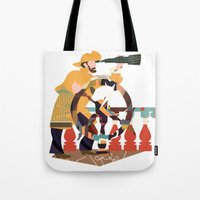 captain Tote Bags featuring Captain by Design4u Studio