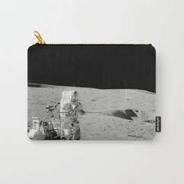 Apollo 14 - Black & White Moon Work Carry-All Pouch