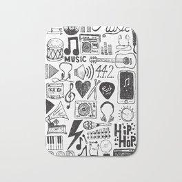 Music Doodles Bath Mat