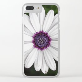 Flower Portriat - Purple Power Clear iPhone Case
