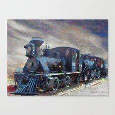 Old steam locomotives Canvas Print