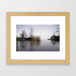 The silence of the Lake in wintertime Framed Art Print