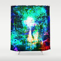 """hologram Shower Curtains featuring """" The voice  is a second face"""" by shiva camille"""