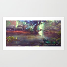 Forest theme 1 Art Print