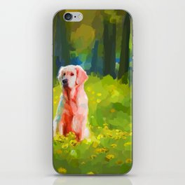 Two dogs in a wood iPhone Skin