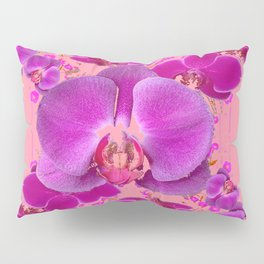 Modern Purple Moth Orchids Coral Color Pillow Sham