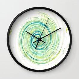Ripple_Circle_Green_Blue Wall Clock
