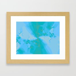 Shattered in Light Blue Framed Art Print