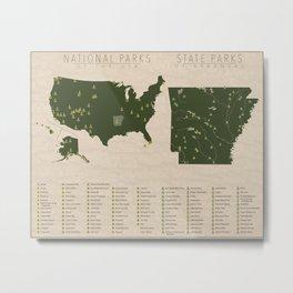 US National Parks - Arkansas Metal Print