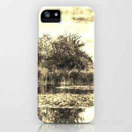 Liliy Pond Vintage iPhone Case
