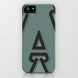 BOLD 'A' DROPCAP iPhone Case
