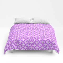 Trellis_Purple Comforters