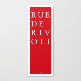 Rue de Rivoli - Paris Canvas Print