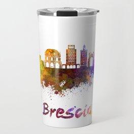 Brescia skyline in watercolor Travel Mug