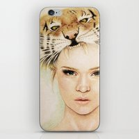 beast iPhone & iPod Skins featuring BEAST by Tessa