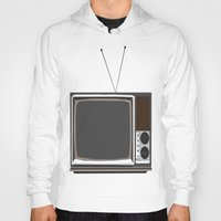 tv Hoodies featuring Television by Jarom Ward