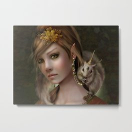 Elven Fairy Princess of the Land Metal Print