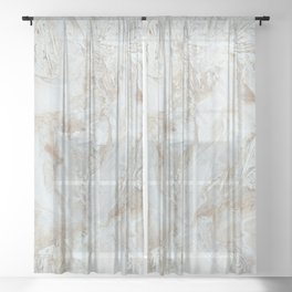 Classic Marble Sheer Curtain