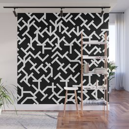 Geometric Labyrinth Wall Mural