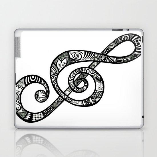 Treble Clef - ANALOG Zine submission Laptop & iPad Skin
