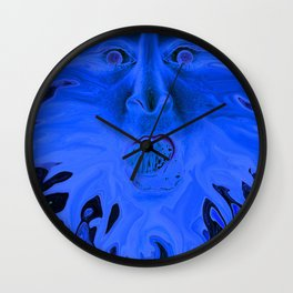 Surprise in Blue Wall Clock